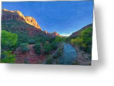 The Watchman Zion National Park Greeting Card