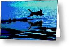 The Water Dog - Debbie May.fineartamerica.com Greeting Card