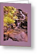 The Water Falls Greeting Card