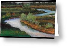 The Water Flows South Greeting Card