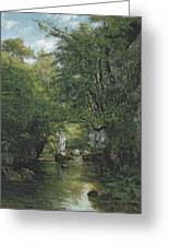 The Water Stream, La Breme Greeting Card
