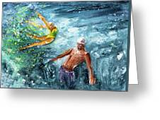 The Water Wall Greeting Card