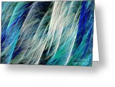 The Waterfall Abstract Greeting Card