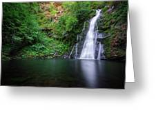 The Waterfall And Large Pool Of Vieiros Greeting Card
