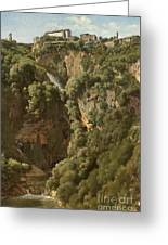 The Waterfalls At Tivoli Greeting Card