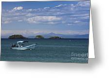 The Waters Of Coiba Greeting Card