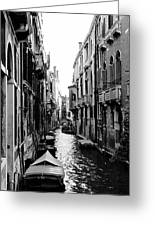 The Waterways Of Venice Greeting Card