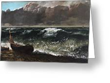 The Wave 1869 1 Greeting Card