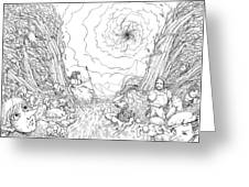 The Wave Of Time And Space Greeting Card