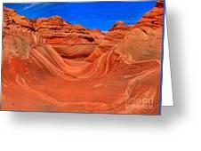 The Wave Panorama - X Greeting Card