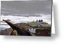 The Wave Watchers Greeting Card