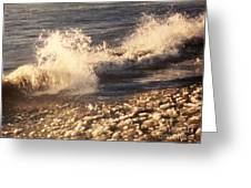 The Waves Of Waverly Beach Greeting Card