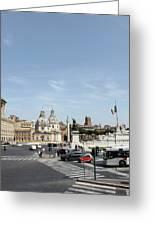 The Way To Piazza Venezia Greeting Card