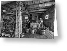 The Way We Were - The Blacksmith 2 Bw Greeting Card