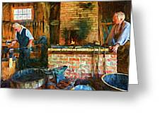 The Way We Were - The Blacksmith - Paint Greeting Card