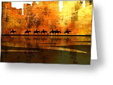 The Weary Journey Greeting Card