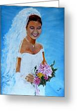 the wedding day of my daughter Daniela Greeting Card