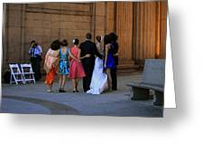The Wedding Party Detail Greeting Card
