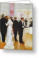 The Wedding Reception Greeting Card by Jean Beraud