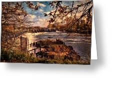 The Weir At Teddington Greeting Card