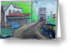 The West End Carryout At The Bridge Greeting Card