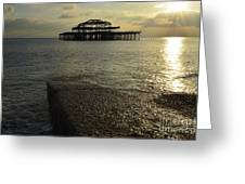 The West Pier Greeting Card