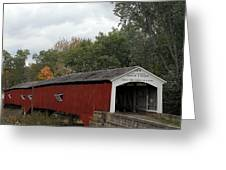 The West Union Covered Bridge Greeting Card
