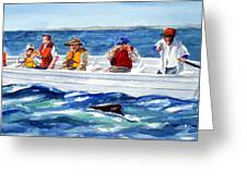 The Whale Watchers Greeting Card