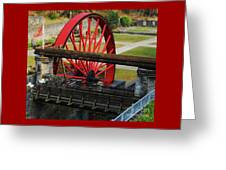 The Wheel Park, Laxey, Isle Of Man Greeting Card