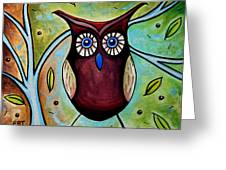 The Whimsical Owl Greeting Card