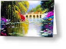 The White Bridge Greeting Card