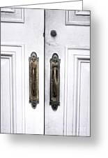 The White Double Doors Greeting Card