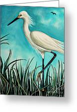 The White Egret Greeting Card