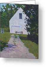 The White Garage - Art By Bill Tomsa Greeting Card