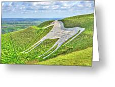 The White Horse. Greeting Card
