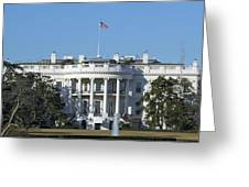 The White House - 1600 Pennsylvania Avenue Washington Dc Greeting Card by Brendan Reals