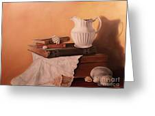 The White Pitcher Greeting Card