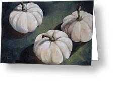The White Pumpkins Greeting Card