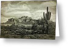 The Wild West Of The Superstitions  Greeting Card