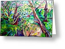 The Wild Wood Original Art Of Mindy Newman Greeting Card