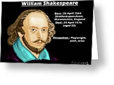 The William Shakespeare Greeting Card
