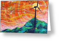 The Wind Greeting Card