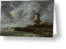 The Windmill At Wijk Bij Duurstede 1668-1670 Greeting Card
