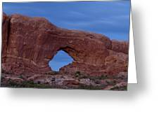 The Window At Arches N.p. After Dark Greeting Card