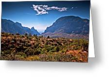 The Window In The Chisos Mountains Greeting Card
