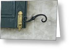 The Window Latch Greeting Card