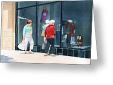 The Window Shoppers Greeting Card