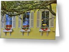 The Windows Of Amelia Island Greeting Card