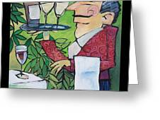 The Wine Steward - Poster Greeting Card