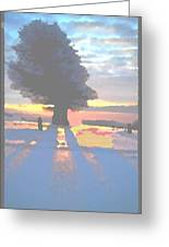 The Winter Lonely Tree Greeting Card